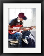 Framed Playing Guitar