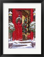Framed Red Door 1