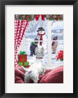 Framed Westie At Window