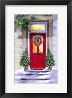 Framed Xmas Red Door 2