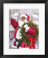 Framed Santa waving