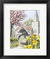 Framed Easter Church