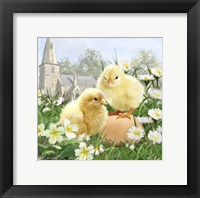 Framed Easter Chicks 2