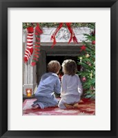Framed Waiting For Santa