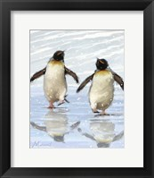 Framed Dancing Penquins