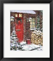 Framed Winter Logs