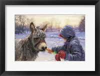 Framed Feeding Donkey