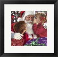 Framed Whispering To Santa