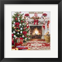 Framed Christmas Hearth Square