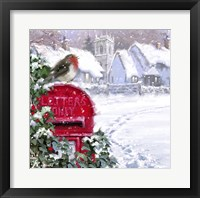 Framed Village Robin 2
