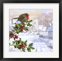 Framed Robin On Holly 1