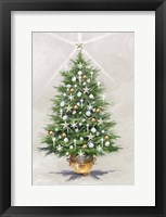 Framed Silver Gold Xmas Tree