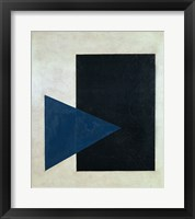 Framed Black Square, Blue Triangle, 1915