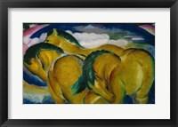 Framed Small Yellow Horses, 1912