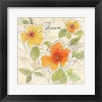 Bright Yellow Garden Trio I Framed Print