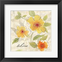 Bright Yellow Garden Trio II Framed Print
