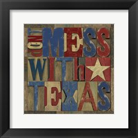 Texas Printer Block I Framed Print