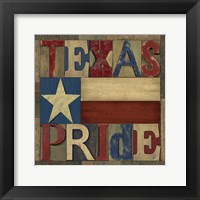 Texas Printer Block II Framed Print