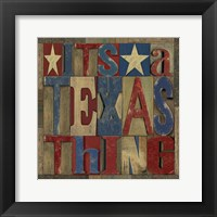 Texas Printer Block III Framed Print