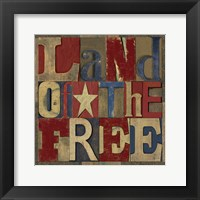 Patriotic Printer Block II Framed Print