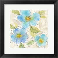 Blue Poppy Garden II Framed Print