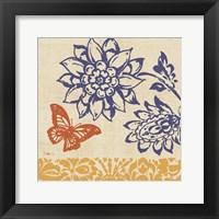Blue Indigo Butterfly I Framed Print