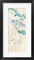 Indigo Wildflowers Panel I Framed Print