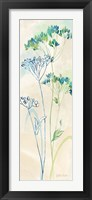 Indigo Wildflowers Panel II Framed Print