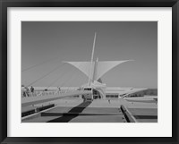 Framed Milwaukee Art Museum, Quadracci Pavilion, 700 North Art Museum Drive, Milwaukee, Milwaukee County, WI