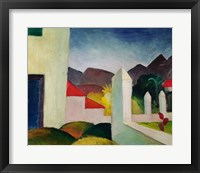 Framed Tunisian Landscape