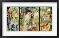 Framed Grosser Zoologischer Garten (Triptychon)