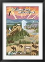 Framed Yellowstone Park Scene