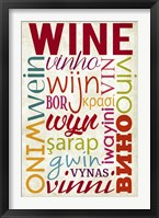 Framed Wine In Different Languages