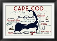 Framed Cape Cod New England Text