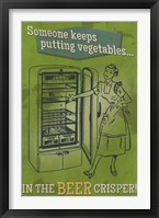 Beer Crisper Framed Print