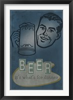 Beer For Dinner Framed Print
