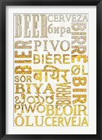 Beer In Different Languages Framed Print