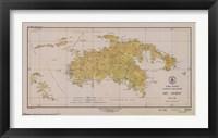 Framed Map of St. John