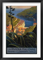 Framed La Rivieria Italienne French