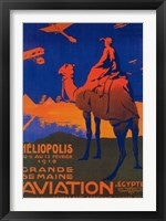Framed Heliopolis Aviation Ad