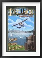 Framed Lake Unions Seattle Fishing