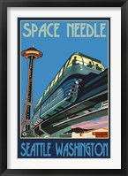 Framed Space Needle Seattle