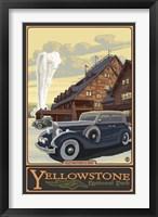 Framed Old Faithful Inn Yellowstone Ad