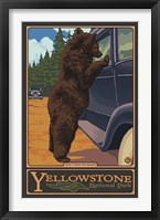 Don't Feed The Bears Yellowstone Framed Print