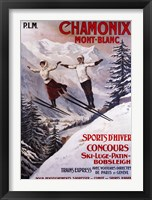 Framed Chamonix Mont-Blanc Sports