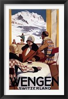 Framed Wengen Switzerland Ad