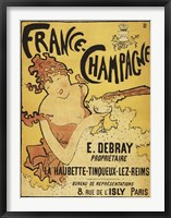 Framed France Champagne