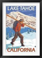 Framed Lake Tahoe California Ski