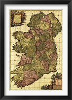 Framed Old Map of Ireland