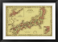 Framed Map of Japan